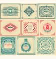 9 old cards with floral details vector image vector image