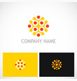 abstract dot connect company logo vector image
