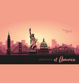 abstract landscape city with sights the vector image vector image