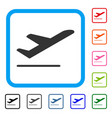 airplane departure framed icon vector image vector image