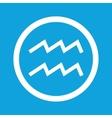 Aquarius sign icon vector image vector image