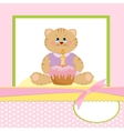 Babys greetings card with cat vector image