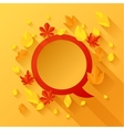 Background with autumn leaves in flat design style vector image vector image
