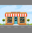 bakery shop facade architecture detailed vector image vector image