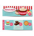 bakery voucher discount template design vector image vector image
