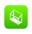 balcony window frame icon green vector image vector image