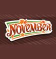banner for november vector image vector image