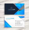 blue abstract business card template vector image vector image