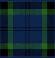 blue green and black tartan plaid seamless pattern vector image vector image
