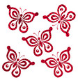 butterflies with pattern vector image