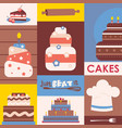 cakes collage colorful vector image
