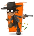 Cartoon robber in mask and hat vector image vector image
