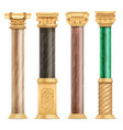 classic arabic architecture golden columns vector image vector image
