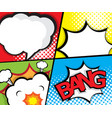 comic book pop art speech bubble page template vector image
