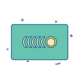 credit card icon design vector image vector image