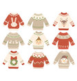 cute christmas jumper xmas ugly sweater with vector image vector image