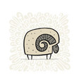 cute ram simple sketch for your design vector image vector image