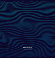 dark blue abstract cover design with glowing wavy vector image