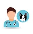 doctor cartoon veterinarian dog french bulldog vector image vector image