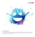 emoji icon - watercolor background vector image