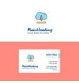 flat cloud downloading logo and visiting card vector image vector image