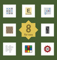 Flat icon entertainment set of guess mahjong vector image