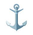 flat sea maritime icon anchor vector image