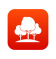 forest trees icon digital red vector image vector image