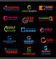 g letter company agency or premium identity vector image vector image