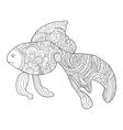 Goldfish Coloring book for adults vector image vector image