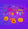 halloween kids party banner vector image