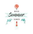 handdrawn abstract summer time fun vector image vector image