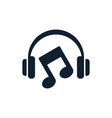 headphones and musical note icon vector image