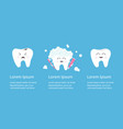 healthy smiling tooth icon set crying bad ill vector image vector image