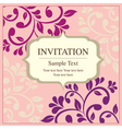 invitation card vintage style vector image vector image