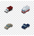 isometric transport set of auto freight first vector image vector image