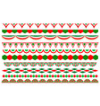 italian flag symbols decorative divider border set vector image vector image