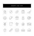 line icons set bakery pack vector image vector image