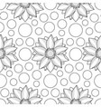 lotus and circles seamless pattern vector image vector image