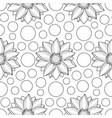 lotus and circles seamless pattern vector image vector image