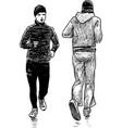 men at jog vector image vector image