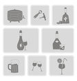 monochrome set with alcohol icons vector image