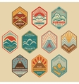 Mount badge set1color vector image vector image