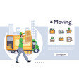moving flat set vector image vector image