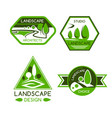 nature emblem for landscaping services design vector image vector image