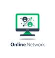 online network computer monitor internet portal vector image vector image