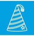 Party hat thin line icon vector image vector image