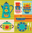 poster vintage kitchen vector image