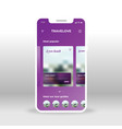 purple online travel packages ui ux gui screen vector image vector image