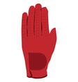 Red glove vector image vector image
